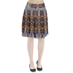 Baroque Fractal Pattern Pleated Skirt