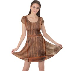 Barnwood Unfinished Cap Sleeve Dresses