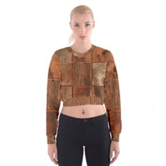Barnwood Unfinished Women s Cropped Sweatshirt
