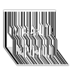 Barcode Pattern Miss You 3D Greeting Card (7x5)