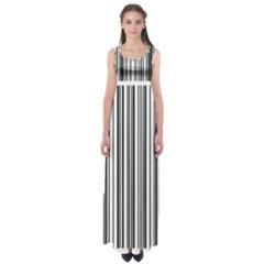 Barcode Pattern Empire Waist Maxi Dress