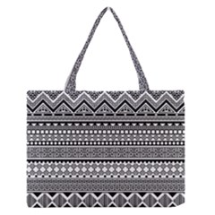 Aztec Pattern Design  Medium Zipper Tote Bag