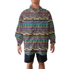 Aztec Pattern Cool Colors Wind Breaker (Kids)