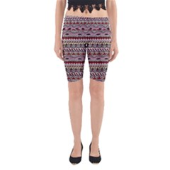 Aztec Pattern Art Yoga Cropped Leggings