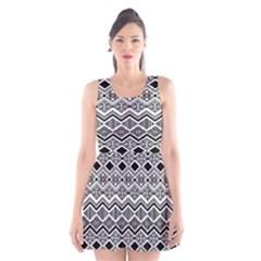 Aztec Design  Pattern Scoop Neck Skater Dress