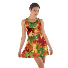 Autumn Leaves Cotton Racerback Dress