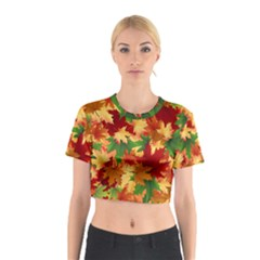 Autumn Leaves Cotton Crop Top