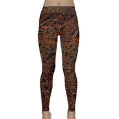 Art Traditional Indonesian Batik Pattern Yoga Leggings