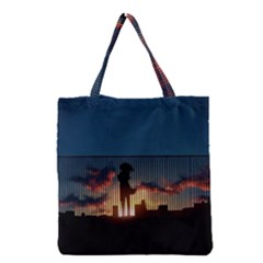 Art Sunset Anime Afternoon Grocery Tote Bag