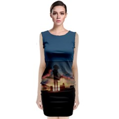 Art Sunset Anime Afternoon Classic Sleeveless Midi Dress