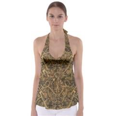 Art Indonesian Batik Babydoll Tankini Top