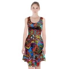 Art Color Dark Detail Monsters Psychedelic Racerback Midi Dress