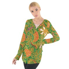 Art Batik The Traditional Fabric Women s Tie Up Tee