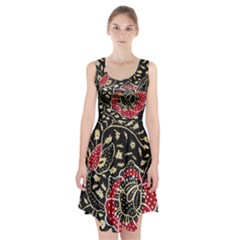 Art Batik Pattern Racerback Midi Dress