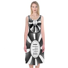 12v Computer Fan Midi Sleeveless Dress
