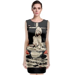 23 Sexy Conte Sketch Girl In Dark Room Naked Boobs Bathing Country Classic Sleeveless Midi Dress