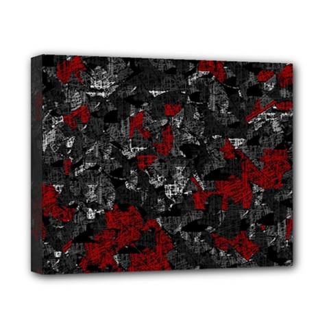 Gray and red decorative art Canvas 10  x 8