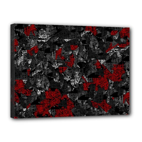 Gray and red decorative art Canvas 16  x 12