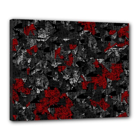 Gray and red decorative art Canvas 20  x 16