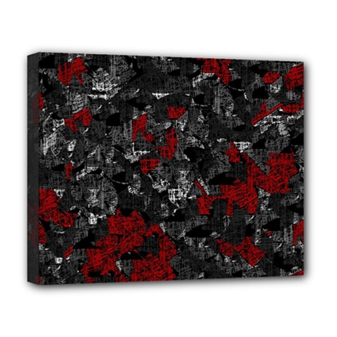 Gray and red decorative art Deluxe Canvas 20  x 16