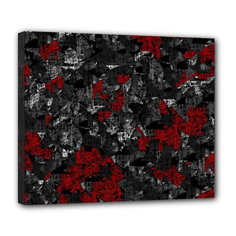 Gray and red decorative art Deluxe Canvas 24  x 20