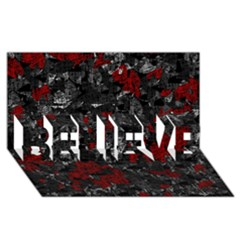 Gray and red decorative art BELIEVE 3D Greeting Card (8x4)