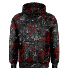 Gray and red decorative art Men s Pullover Hoodie