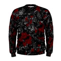 Gray and red decorative art Men s Sweatshirt