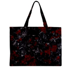 Gray and red decorative art Zipper Mini Tote Bag