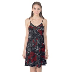 Gray And Red Decorative Art Camis Nightgown