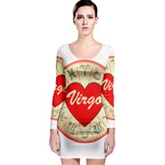 Astrology Junction Virgo Long Sleeve Bodycon Dress