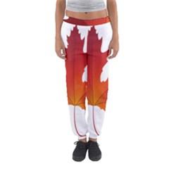 Autumn Maple Leaf Clip Art Women s Jogger Sweatpants