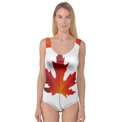 Autumn Maple Leaf Clip Art Princess Tank Leotard