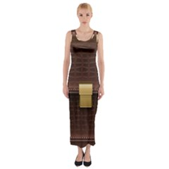 Brown Bag Fitted Maxi Dress