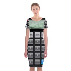 Calculator Classic Short Sleeve Midi Dress