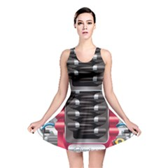 Car Engine Reversible Skater Dress