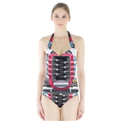 Car Engine Halter Swimsuit