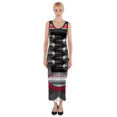 Car Engine Fitted Maxi Dress