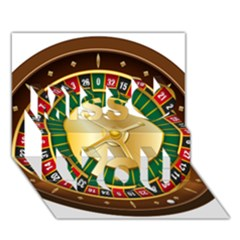 Casino Roulette Clipart Miss You 3D Greeting Card (7x5)
