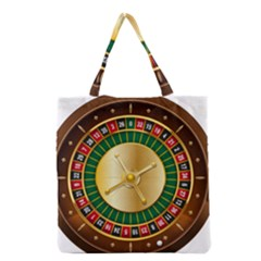 Casino Roulette Clipart Grocery Tote Bag
