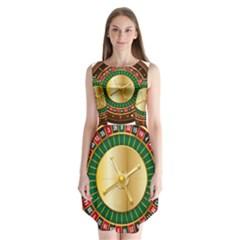 Casino Roulette Clipart Sleeveless Chiffon Dress