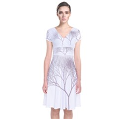 Circos Comp Short Sleeve Front Wrap Dress
