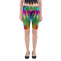Colorful Easter Egg Yoga Cropped Leggings