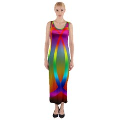Colorful Easter Egg Fitted Maxi Dress