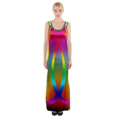 Colorful Easter Egg Maxi Thigh Split Dress