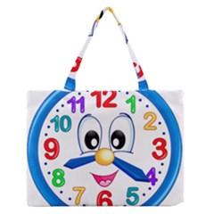 Cute Clock Medium Zipper Tote Bag