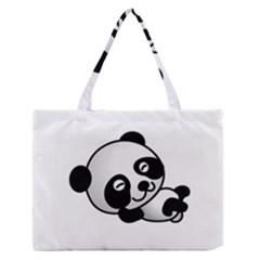 Cute Panda Medium Zipper Tote Bag