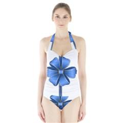 Decorative Blue Bow Transparent Clip Art Halter Swimsuit