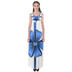 Decorative Blue Bow Transparent Clip Art Empire Waist Maxi Dress