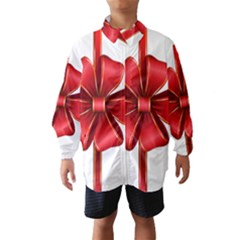 Decorative Red Bow Transparent Clip Art Wind Breaker (Kids)